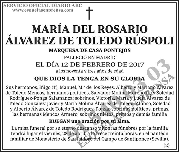 María del Rosario Álvarez de Toledo Rúspoli